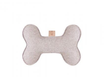 hracka pro psy kost svetle seda