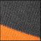 972 tmavě šedá/oranžová