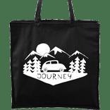 Ručně malovaná plátěná taška Carry černá - Journey