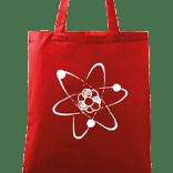 Ručně malovaná plátěná taška - Atom