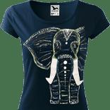 Ručně malované dámské triko - Slon