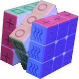 Rubikova kostka 3x3x3 pro nevidomé a slabozraké