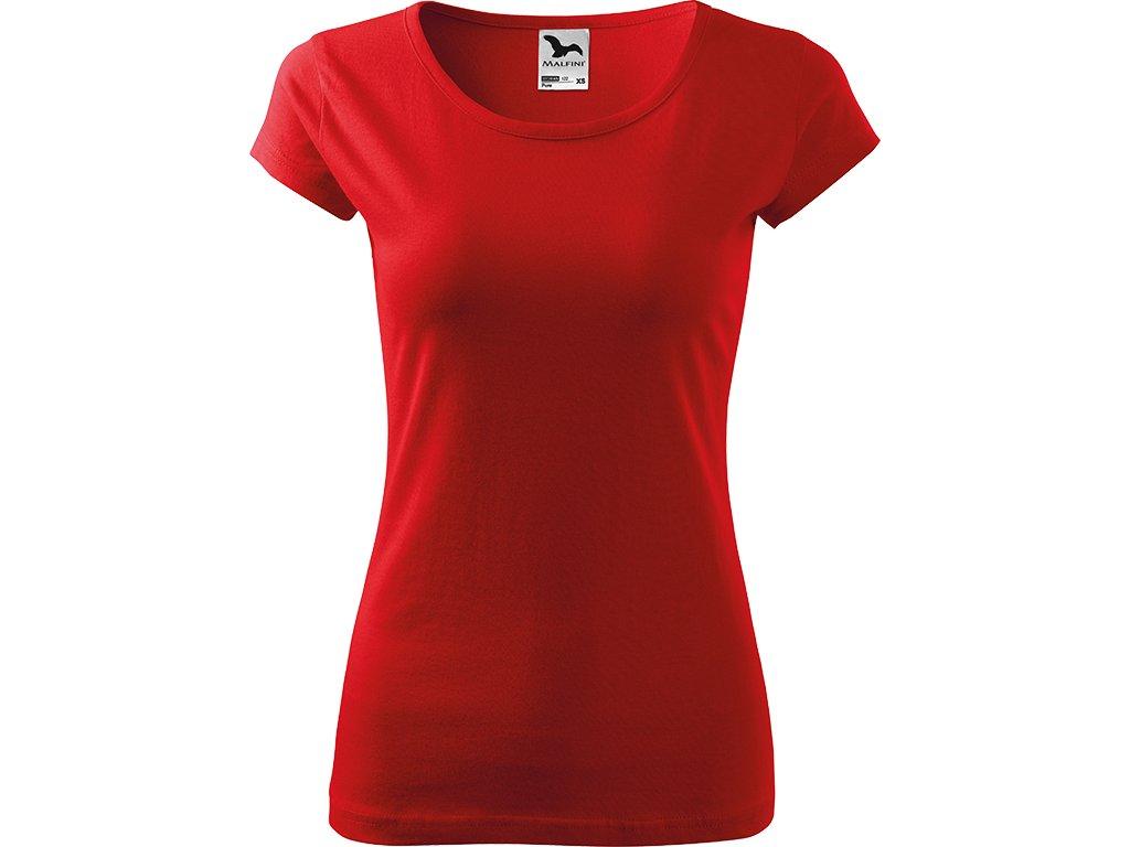 Dámské tričko Pure - Červené - Zepředu