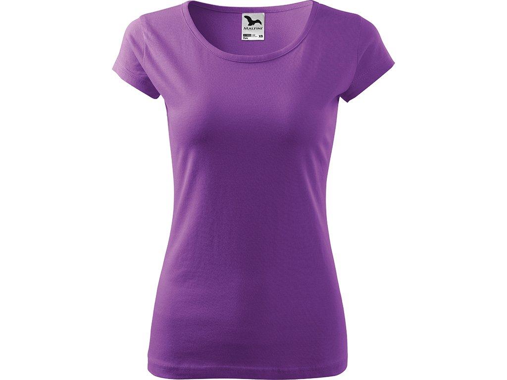 Dámské tričko Pure - Fialové - Zepředu