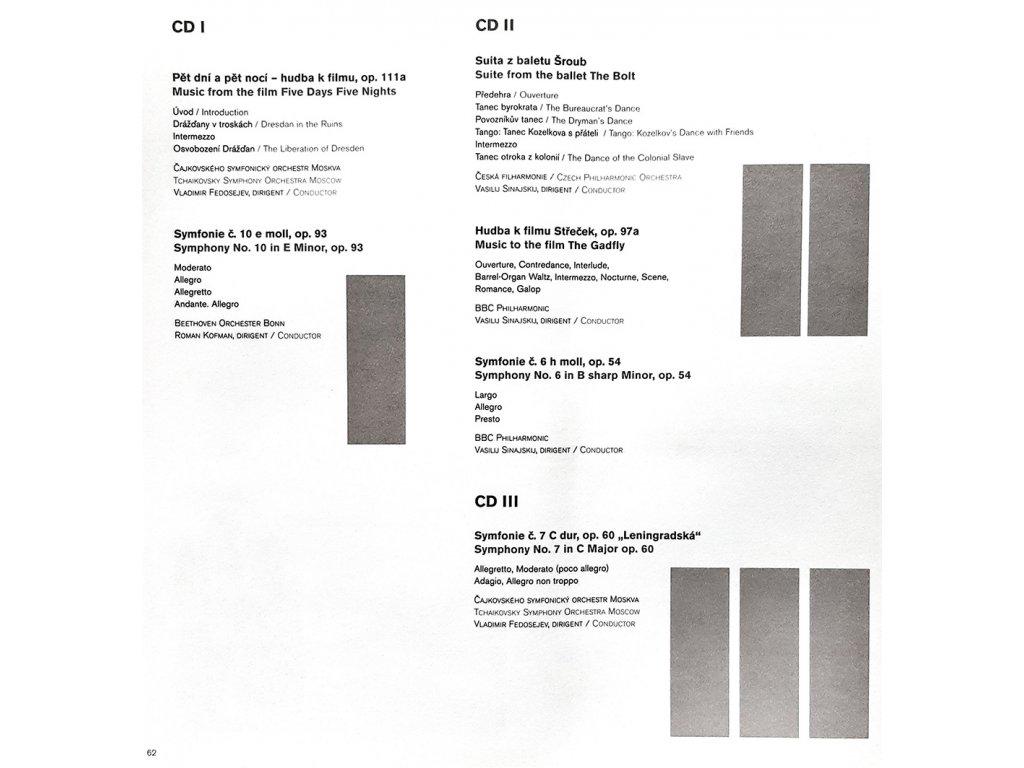 Set 5 CD 16. ročníku Mezinárodního hudebního festivalu Pražský podzim - Dmitrij Dmitrijevič Šostakovič