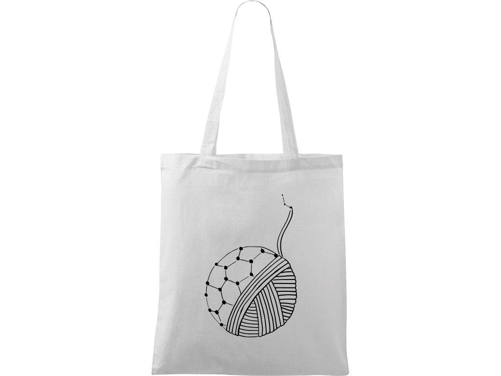 Plátěná taška Handy bílá s černým motivem - Fulleren