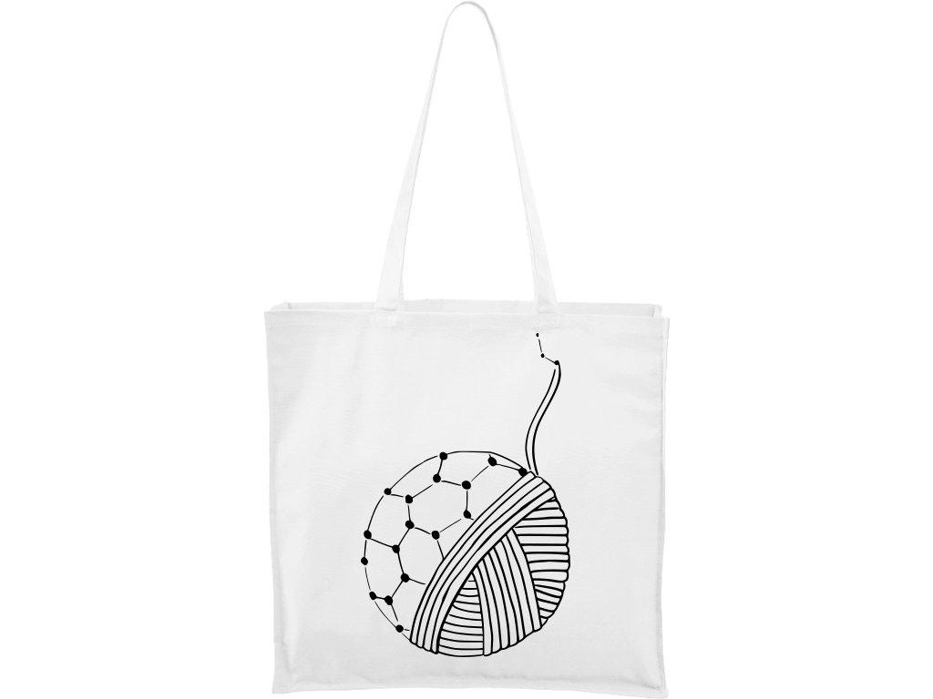 Plátěná taška Carry bílá s černým motivem - Fulleren