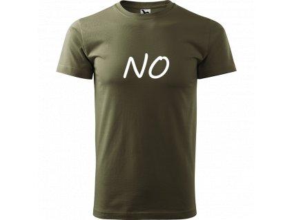 Ručně malované triko army s bílým motivem - NO