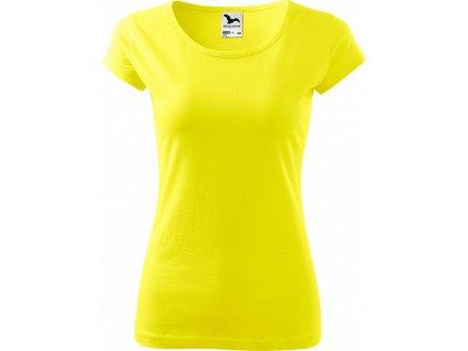 Dámské tričko Pure - Citronové - Zepředu