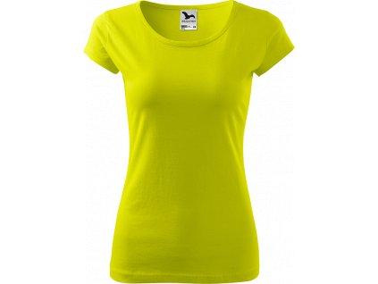 Dámské tričko Pure - Limetkové - Zepředu