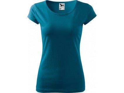 Dámské tričko Pure - Petrolejové - Zepředu