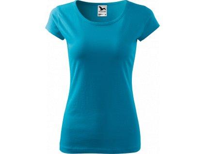 Dámské tričko Pure - Tyrkysové - Zepředu