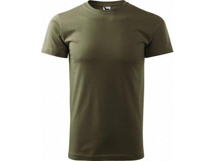 Pánské tričko Heavy New - Army - Zepředu