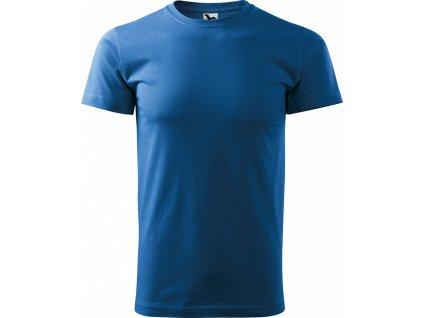 Pánské tričko Heavy New - Azurové - Zepředu