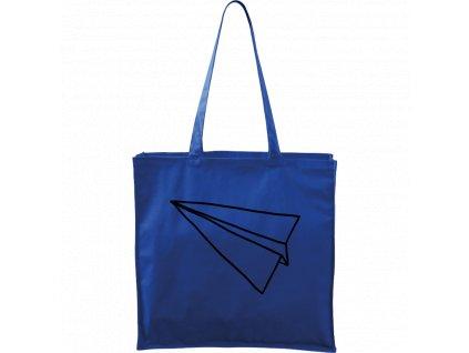 Plátěná taška Carry modrá s černým motivem - Šipka samotná