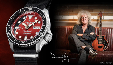 Seiko 5 Sports Brian May SRPE83K1 Red Special