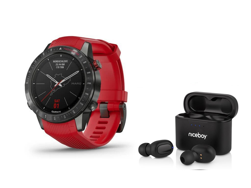 Garmin MARQ Driver Red 010-02567-01 Premium  + možnost výměny do 90 dní + bezdrátová sluchátka Niceboy HIVE drops v hodnotě 1490Kč