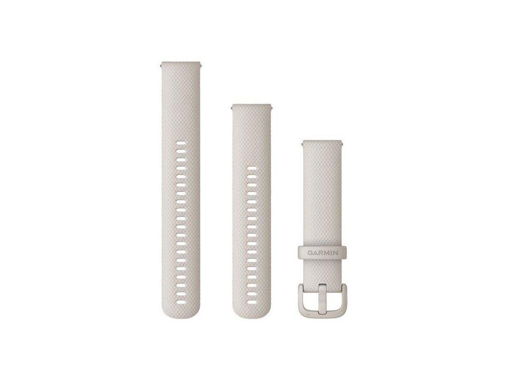 Řemínek Garmin Quick Release 20mm, silikonový béžový, plastová přezka