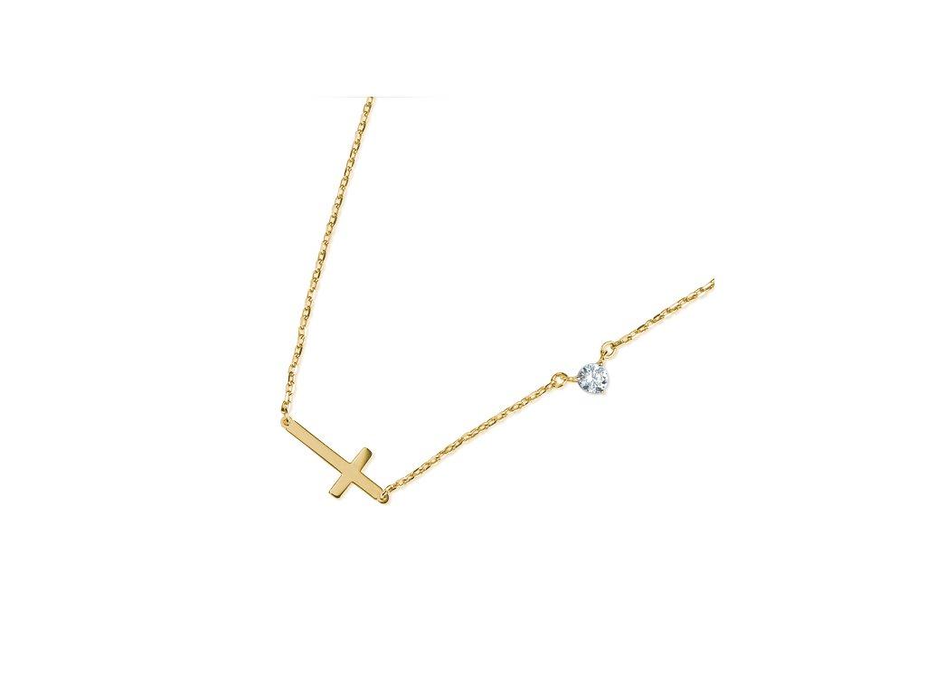 Zlatý dámský náhrdelník Lima 1440755-0-45-1  + možnost výměny do 90 dní