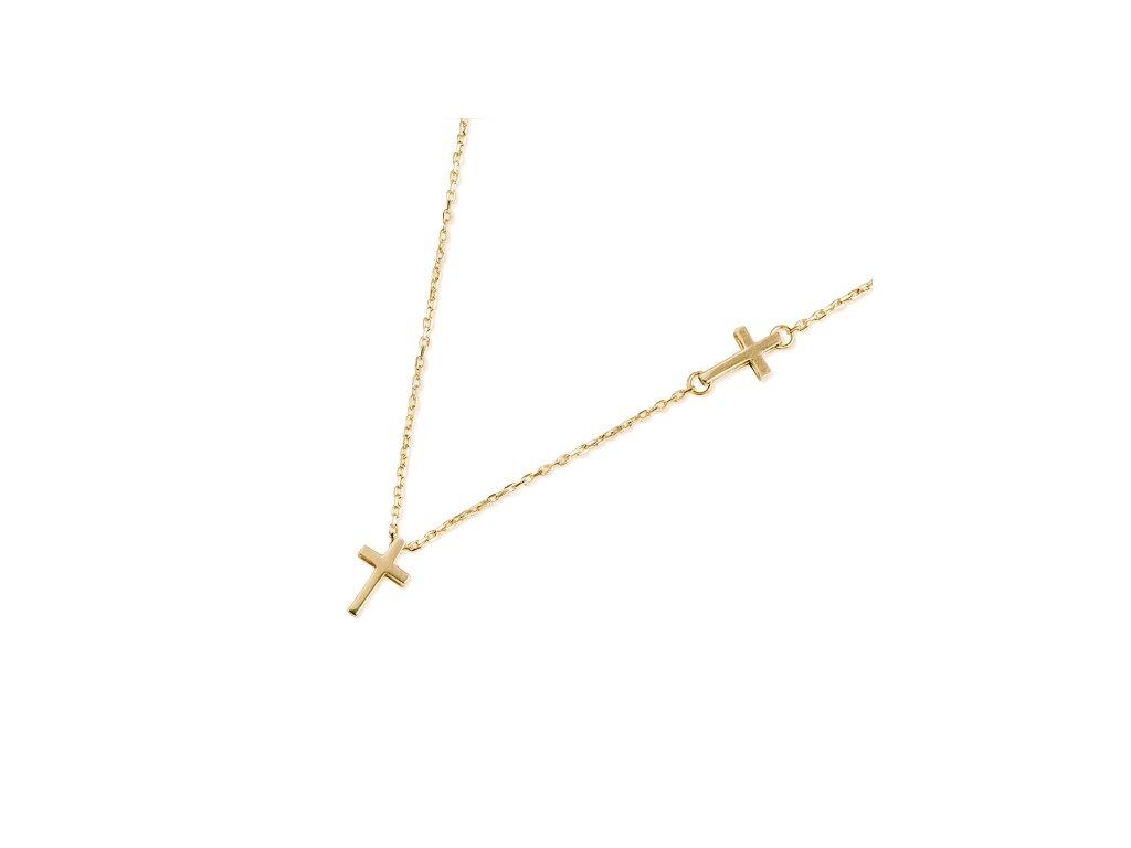 Zlatý dámský náhrdelník Mary 1440754-0-45-0  + možnost výměny do 90 dní