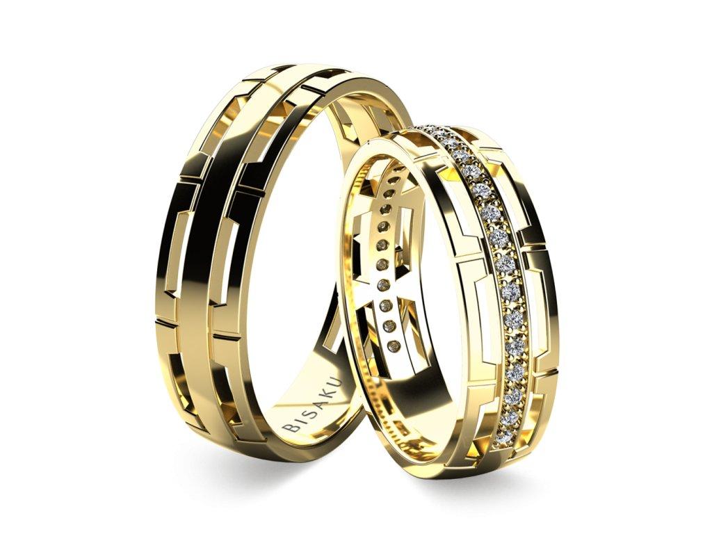 snubni prsteny zlute zlato Korrie