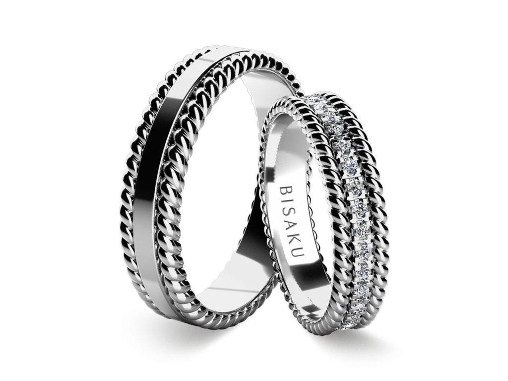 snubni prsteny bile zlato Trella
