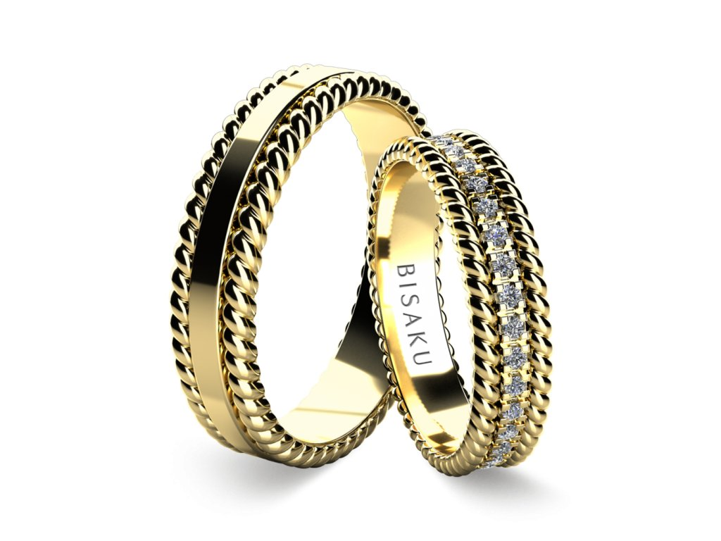 snubni prsteny zlute zlato Trella