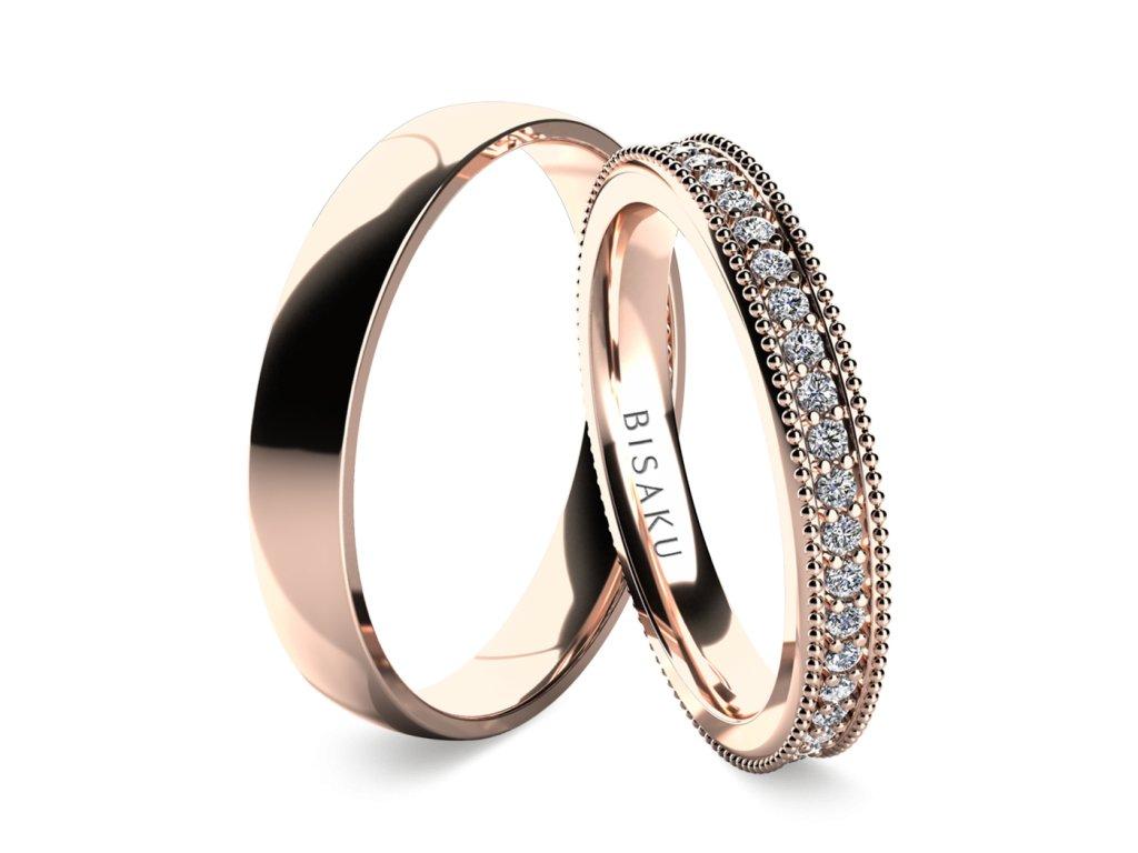 snubni prsteny ruzove zlato Emilia