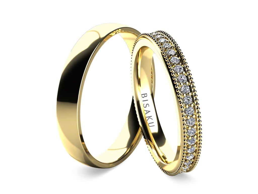 snubni prsteny zlute zlato Emilia