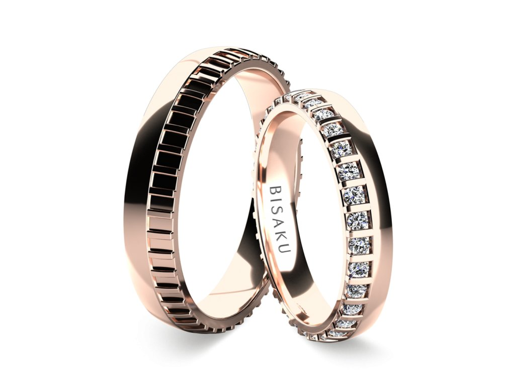 snubni prsteny ruzove zlato Madras