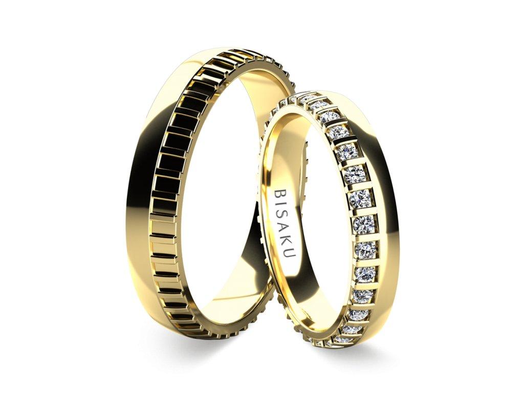 snubni prsteny zlute zlato Madras