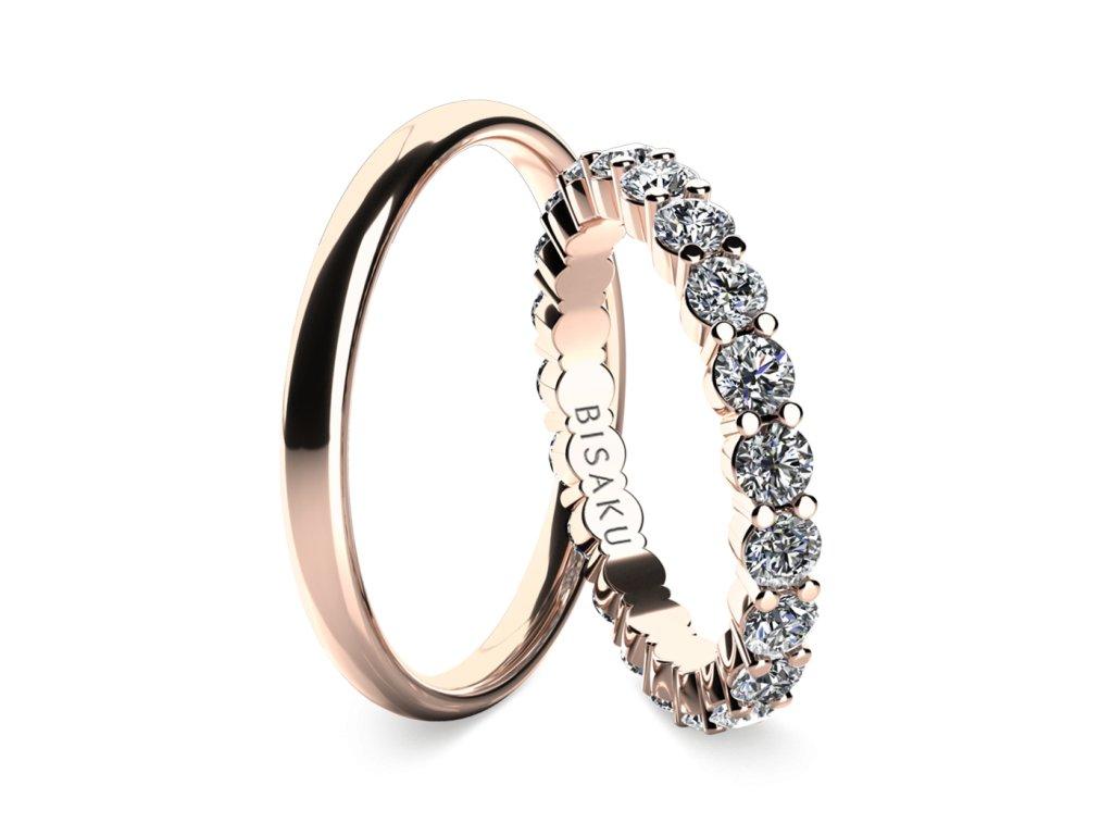 snubni prsteny ruzove zlato SalomeIV