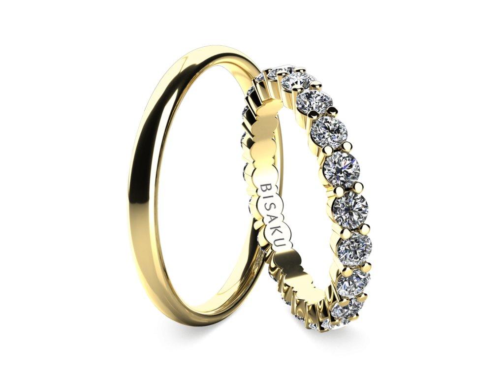 snubni prsteny zlute zlato SalomeIV