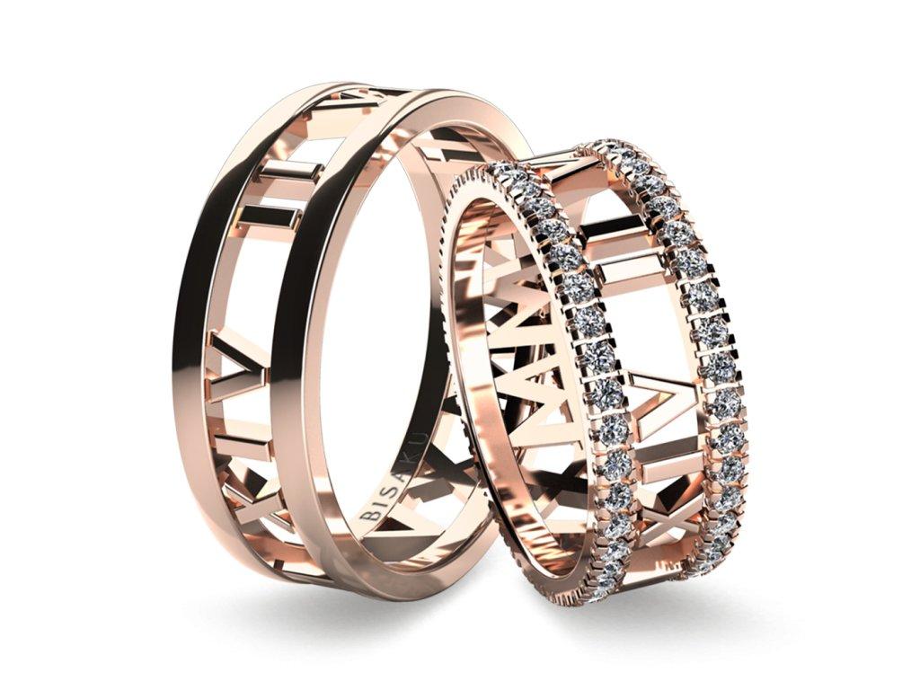 snubni prsteny ruzove zlato Horace