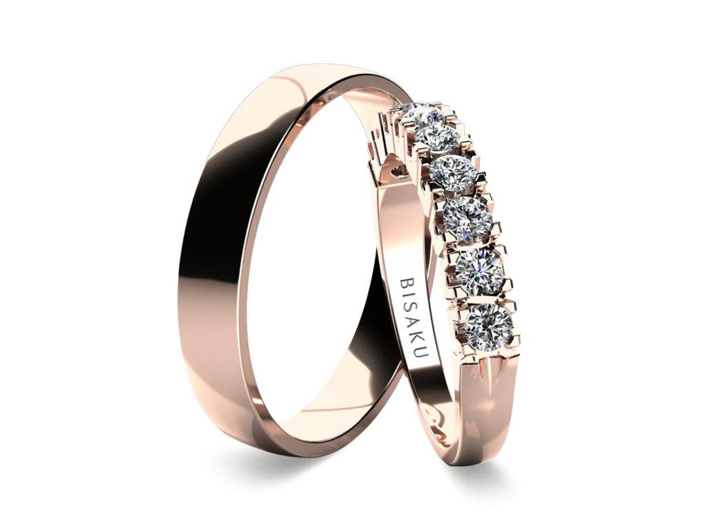 snubni prsteny ruzove zlato NarcisIII