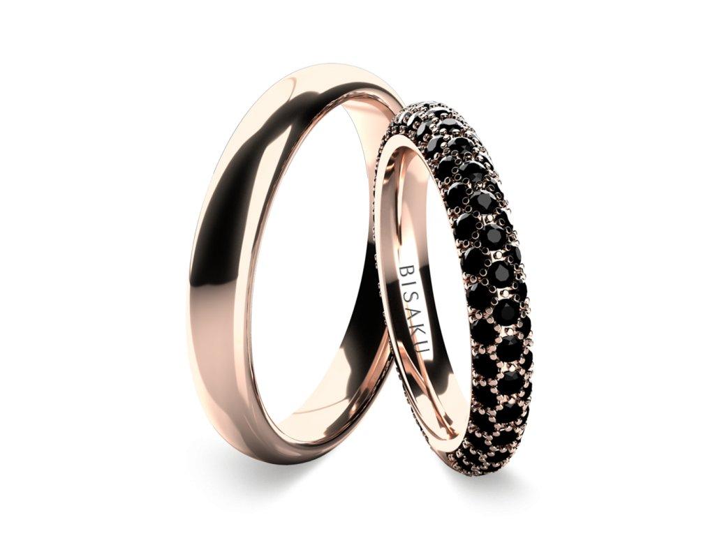 snubni prsteny ruzove zlato Leo