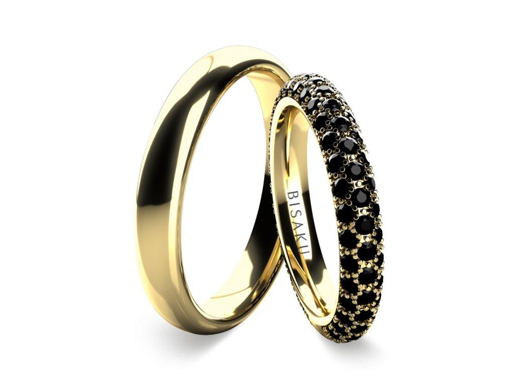 snubni prsteny zlute zlato Leo