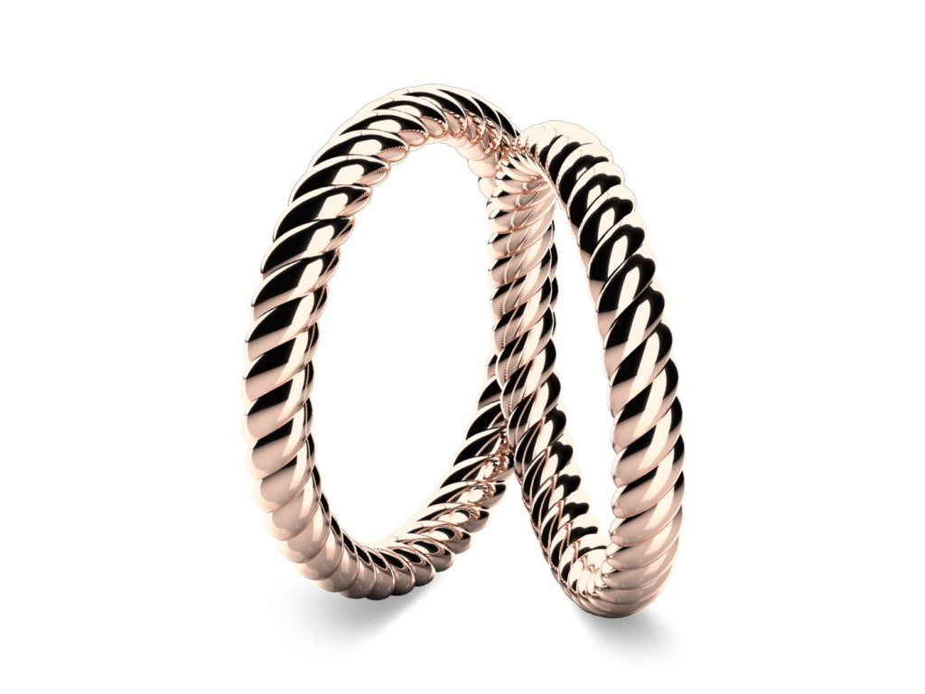 snubni prsteny ruzove zlato Solid