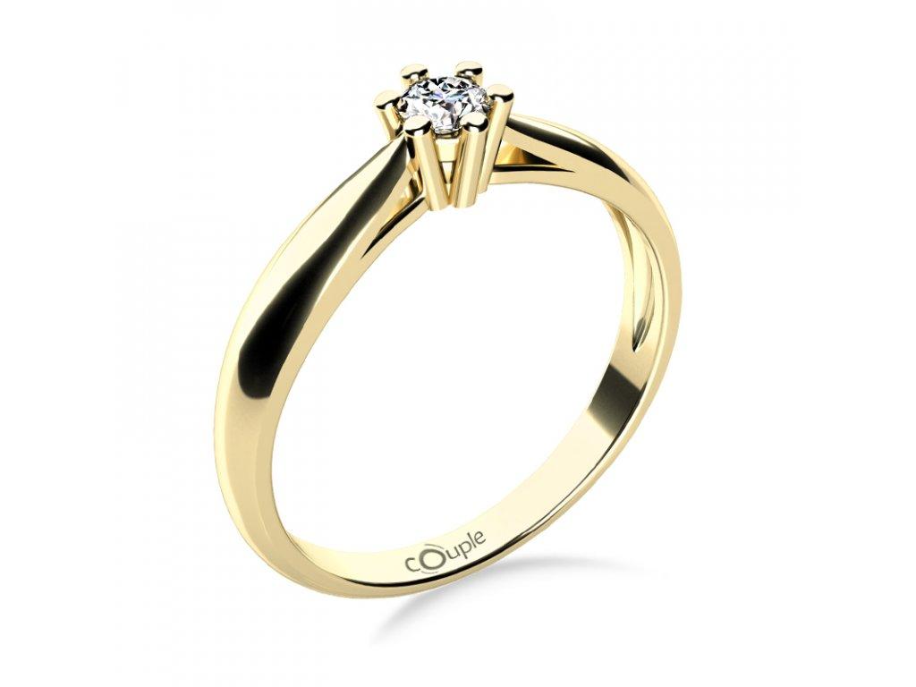 Zlatý dámský prsten Nyla 6814003  + možnost výměny do 90 dní