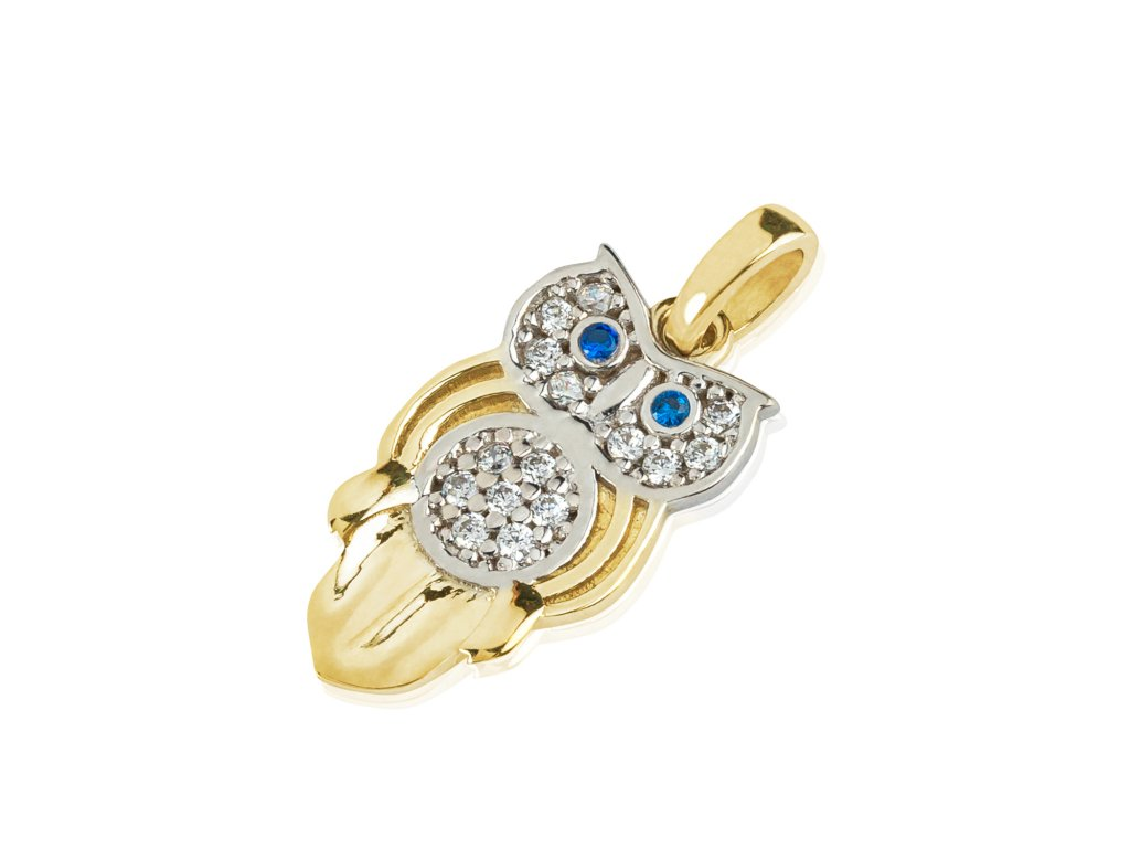 Zlatý dámský přívěsek Owlet 1121305-5-0-2