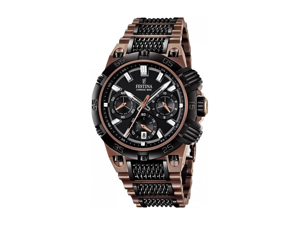 Pánské hnědé hodinky Festina - HELVETIA hodinky šperky 3acc2d1324