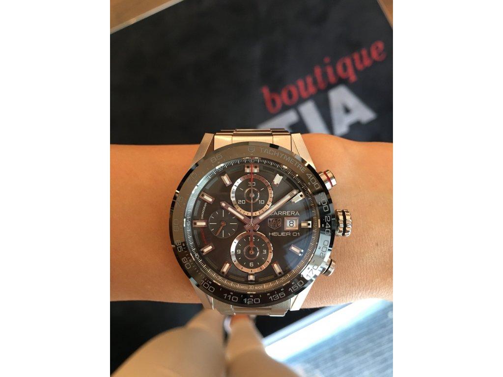 TAG Heuer Carrera CAR201W.BA0714 + natahovač na hodinky - HELVETIA ... 35743598fb6