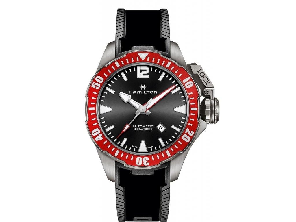 f1b24399f Hamilton Khaki Navy Frogman Titanium H77805335 + prodloužená záruka 5 let