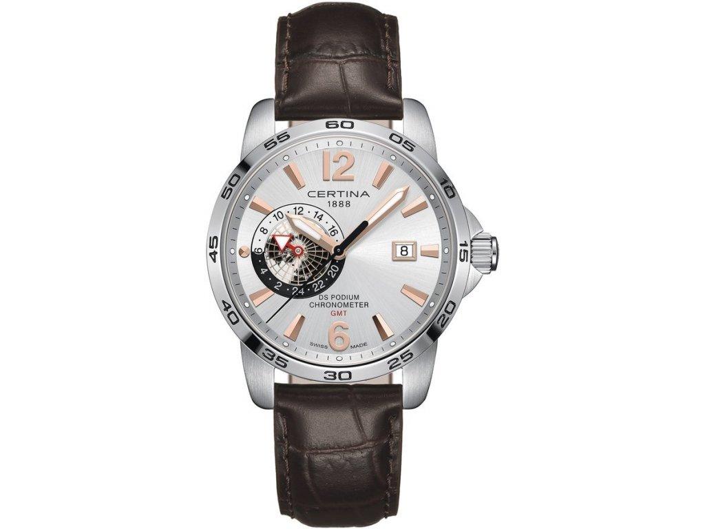 Certina DS Podium Chronometer GMT C034.455.16.037.01  + prodloužená záruka 5 let + 5 let na výměnu baterie zdarma