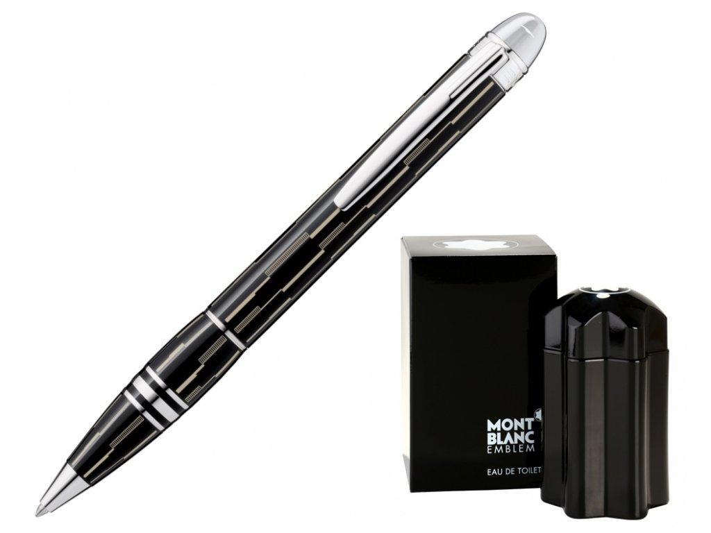 Kuličkové pero Montblanc StarWalker Black Mystery 104227  + dárkový poukaz v hodnotě 1000Kč + toaletní voda Montblanc v hodnotě 520Kč