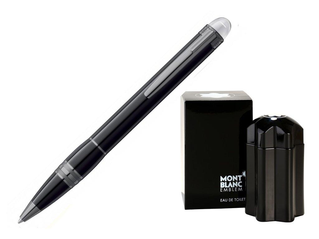 Kuličkové pero Montblanc Starwalker Midnight Black 105657  + dárkový poukaz v hodnotě 500Kč + toaletní voda Montblanc v hodnotě 520Kč
