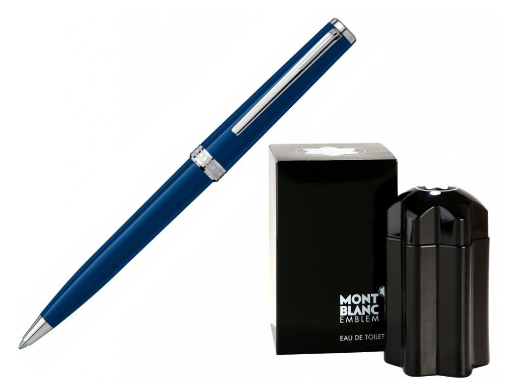 Kuličkové pero Montblanc PIX Blue 114810  + možnost výměny do 90 dní + toaletní voda Montblanc v hodnotě 520Kč