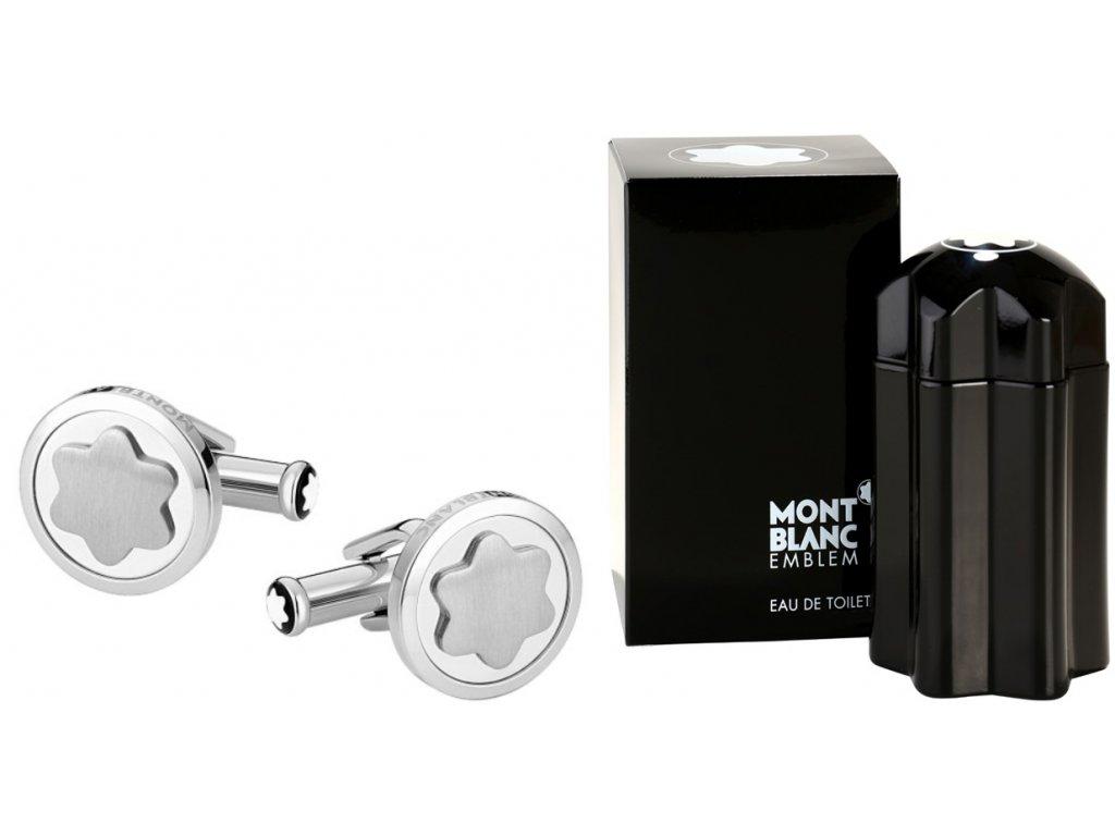 Manžetové knoflíčky Montblanc 116660  + možnost výměny do 90 dní + dárkový poukaz v hodnotě 500Kč + toaletní voda Montblanc v hodnotě 520Kč