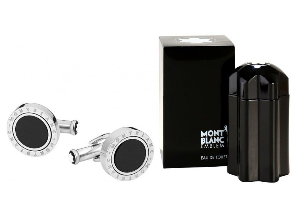 Manžetové knoflíčky Montblanc 116664  + dárkový poukaz v hodnotě 500Kč + toaletní voda Montblanc v hodnotě 520Kč