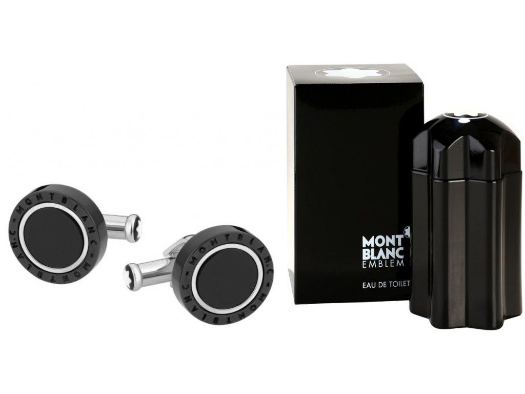 Manžetové knoflíčky Montblanc 116665  + dárkový poukaz v hodnotě 500Kč + toaletní voda Montblanc v hodnotě 520Kč
